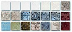 Terravivan käsintehdyt laatat / Unique hand made tiles.