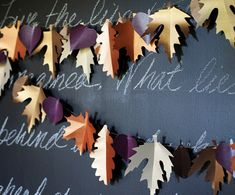 Paper Leaf Garland | 10 DIY Ways To Add A Touch Of Fall To Your Decor