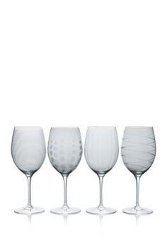 Mikasa Cheers Smoke Set Of 4 Red Wine Glasses - Smoke - One Size