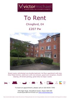 Good sized flat to rent in Chingford for £207pw.  Attractive, sough after, light and airy property. pic.twitter.com/LGja5JhqBw