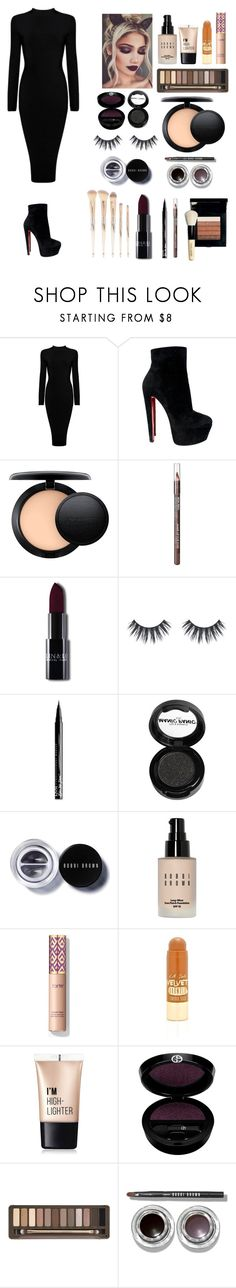 """""""Get ready with me: movie premier🎥🎬👠"""" by saal-style ❤ liked on Polyvore featuring Christian Louboutin, MAC Cosmetics, MAKE UP FOR EVER, NYX, Manic Panic NYC, Bobbi Brown Cosmetics, LunatiCK Cosmetic Labs, Charlotte Russe, Giorgio Armani and Urban Decay"""