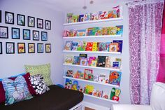 Art on the Walls of Playroom...for the kids reading nook