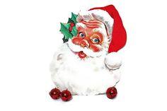 Vintage Santa Claus Face  /  Die Cut Wall or Window Display  /