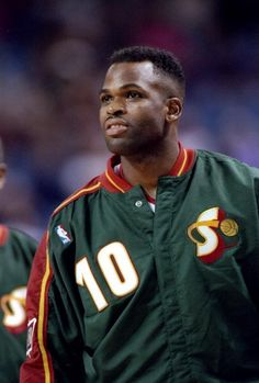 Forward Nate McMillan of the Seattle SuperSonics looks on during a game against the Sacramento Kings at the ARCO Arena in Sacramento California The...