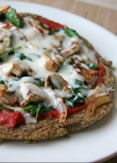 Wild Rice Pizza Crust - Gluten Free / Vegan. Crust recipe seems to be good substitution for pita bread as well. Hello Greek salads!