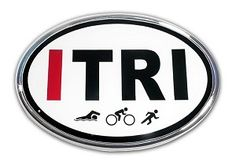 I TRI Oval Emblem  Show your pride on your Ride with this I TRI Oval Emblem.Made in the USA!