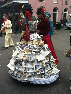 Crazy book dress spotted in New Orleans!