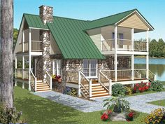 Contemporary Style House Plans - 1719 Square Foot Home, 2 Story, 2 Bedroom and 2 3 Bath, 0 Garage Stalls by Monster House Plans - Plan Coastal House Plans, Cabin House Plans, Beach House Plans, Mountain House Plans, Small House Plans, House Floor Plans, Contemporary Style Homes, Contemporary House Plans, Monster House Plans