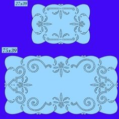 TuttoRicamo.it, Ricamo ed Intaglio a Barcellona Cutwork Embroidery, Embroidery Patterns, Crochet Table Runner, Cut Work, Irish Crochet, Crochet Doilies, Cookie Decorating, Needlework, Cross Stitch