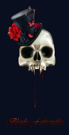 Bloody Fashionable - Camilla M. Drakenborg - Halloween Fantasy Art - Blank Note…