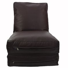 leather futon brown