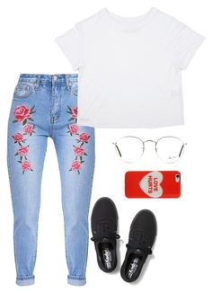 """""""Lucy Moon Vibes"""" by blondeblogger23 on Polyvore featuring Keds, Ray-Ban and Marc Jacobs"""
