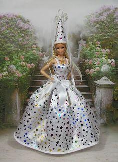 """Robe Barbie """" Fée """" vêtement pour poupée Barbie et autres f3788"""