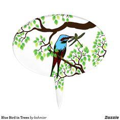 Blue Bird in Trees C