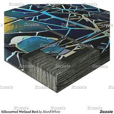 Silhouetted Wetland Bird Canvas Print