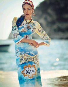 Dolce Dolce & Gabbana, Fashion Week, High Fashion, Ss15 Fashion, Vogue Fashion, Fashion Editorials, Vogue Japon, Capri, Anna Dello Russo