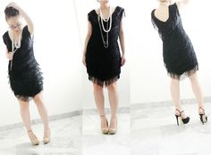 DIY DRESS REFASHION : DIY  QUICK AND EASY 1920's FLAPPER DRESS