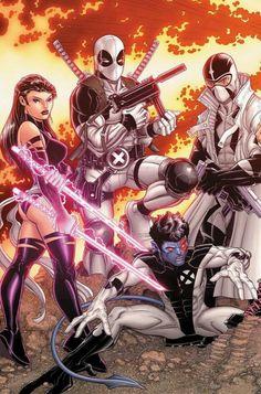 Uncanny X-Force Marvel) comic books Comic Movies, Comic Book Characters, Comic Book Heroes, Marvel Characters, Comic Books Art, Fictional Characters, Marvel Comic Universe, Marvel Comics Art, Comics Universe