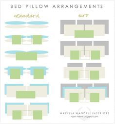 How to arrange cushions on a bed