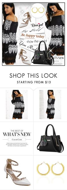 """""""rosegal.com  75"""" by k-lole ❤ liked on Polyvore featuring Summer, cool and blackandwhite"""