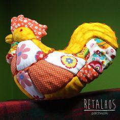 #Easter Cock handmade / Galo #páscoa feito à mão em #Patchwork Embutido