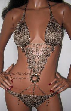 Bikinis, Swimsuits, Swimwear, Crochet Bikini, Crochet Top, Mode Du Bikini, Crochet Bathing Suits, Chainmaille, Bandeau