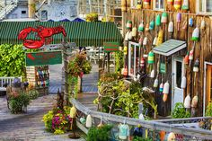 Bar Harbor, Maine Seafood Refstaurant on West Street