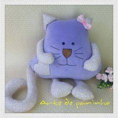 Almofada de gatinho passo a passo com Arte de paninho