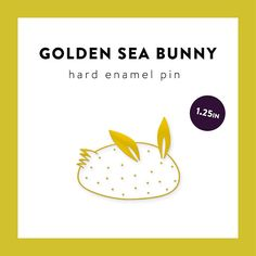 This 1.25 (W) X 1 (H) pin is made of premium 2mm shiny gold-plated metal finish, white colored hard enamel, and attached with two backs. Sea Bunny, also known as Jorunna Parva, is a kind of sea slug lives around the waters of Indo-Pacific Ocean. It is probably the cutest slug in the world!