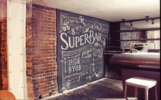 Beautiful chalk typography.