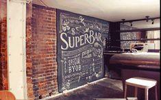 Beautiful chalk typography.