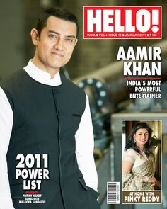 Aamir Khan in a vest on Hello! Suhel Seth, Pinky Reddy, Aamir Khan, Incredible India, Super Powers, Bollywood, The Incredibles, Entertaining, Hello Magazine