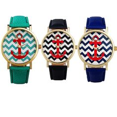 Womans Mans Trendy Geneva Stripes Print Leather Band Analog Quartz Wrist Watches #yishengmall2014us #Casual