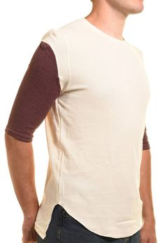 Koto Mens Thermal Tee 1/2 Sleeve Shirt Waffle Knit Curved Hem Crew Neck TShirt #Koto #Henley