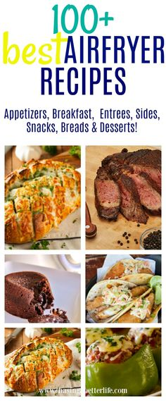 100+ Delicious Air Fryer Recipes #recipes #airfryer