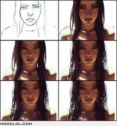 Perfect drawing of a woman.