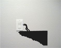 Our line of unique wall decals to fit over your light switch or electrical outlet cover plate by Daydreamer Decals. Simple Wall Paintings, Creative Wall Painting, Wall Painting Decor, Creative Walls, Diy Wall Decor, Stencil Wall Art, Wall Decor Stickers, Wall Sticker, Wall Decals