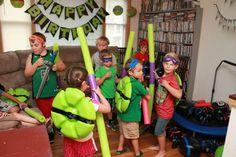 Teenage Mutant Ninja Turtles Birthday Party Ideas | Photo 32 of 47 | Catch My Party