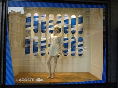 By ton van der veer lafayette paris, visual merchandising displays, shop wi Glass Signage, Lafayette Paris, Visual Merchandising Displays, Shop Window Displays, Shop Plans, Shop Interior Design, Paris France, Branding Design, Lacoste