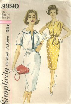 Vintage+60s+Sewing+Pattern+Simplicity+3390+by+studioGpatterns,+$9.50