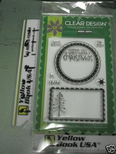 Hero Arts Large Christmas CL356 Cling Rubber Stamp Set