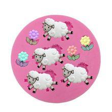 1 unids ovejas flores en forma de caramelo de Chocolate Jello 3D jabón molde silicona molde herramientas fondant cake decorating(China (Mainland))