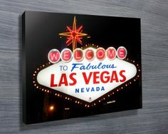 WECOME TO LAS VEGAS $26.00–$741.00 Nice art print for any Las vegas fans! Welcome to Las Vegas Canvas Print #Canvasprints #Canvasprinting