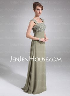 Empire Sweetheart Floor-Length Chiffon Mother of the Bride Dresses With Lace (008006233) - JenJenHouse