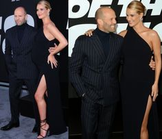 "Rosie Huntington-Whiteley and Jason Statham at ""The Fate of the Furious"" premiere held at Radio City Music Hall in New York City on April 8, 2017."