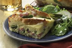 HAM & ASPARAGUS STRATA  http://www.incredibleegg.org/recipes-and-more/recipes/ham-asparagus-strata edibl egg, egg recipes, asparagus strata, hams, food, breakfast, asparagus crepe, asparagus egg, brunch