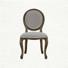 Margot Upholstered Dining Side Chair In Velvet Smoke And Weathered   Arhaus Furniture