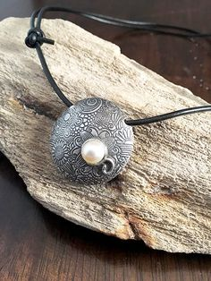 Mothers Day Gift  Silver Necklace Pendant  by AriesArtisticJewelry