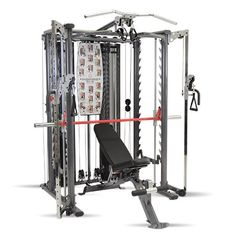 "Inspire Fitness Scs Smith System / Cage System / Functional Trainer (All in One Gym) (Inspire SCS System (With Bench)). FRAME: Heavy-duty 2""x 4"" oval and 3"" round 11 gauge tubular steel. BEARING SYSTEM: Precision Steel Ball Bearing system provides a smooth, maintenance free action. ACCESSORIES: Two pair of ""D"" handles one long and one short. Pull-up assist strap. WARRANTY: (Residential) Lifetime Limited Warranty and (Light-Commercial) 10 year Warranty. DELIVERY: Ships in Box to Outside of..."