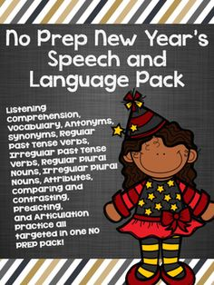 This no-prep pack targets 12 speech and language skills!!